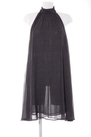 Replay A-Linien Kleid schwarz-altrosa Sternenmuster Elegant