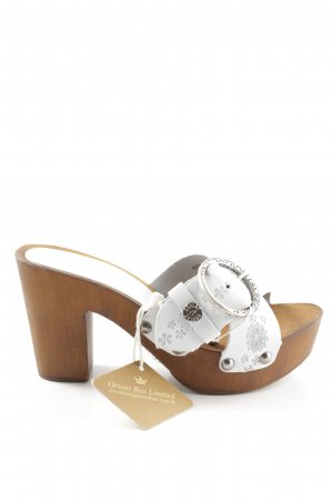 Replay Heel Pantolettes floral pattern casual look