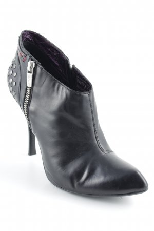 Replay Ankle Boots schwarz-silberfarben Party-Look