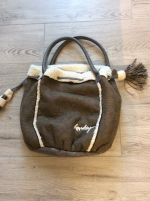 Replay Beutel Handtasche Winter braun Teddy