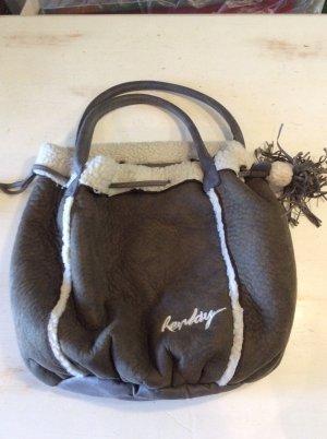 Replay Beuteltasche Schultertasche mit Teddyfell - braun