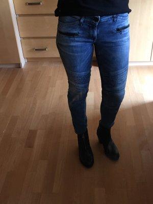 Replay Jeans da motociclista blu