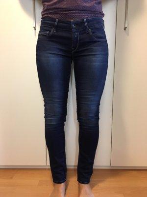 Replay Pantalon taille basse bleu foncé