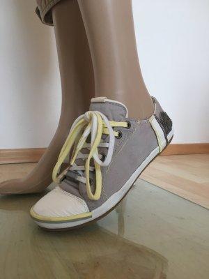Replay Blue Jeans gelb grau greige Sneaker Turnschuhe Segelschuhe casual Natur Kitt Schlamm beige weiß Canvas Leder