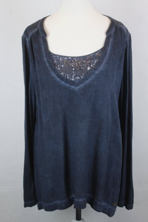 Replay Bluse Gr. M blau mit Pailletten