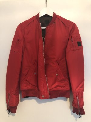Replay Blouson aviateur rouge-kaki
