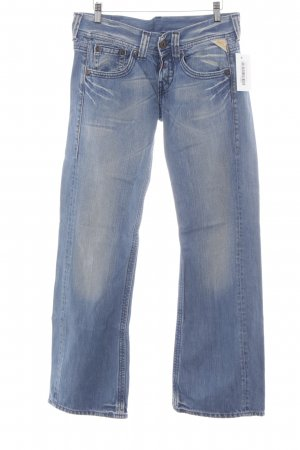 Replay Boot Cut Jeans blau College-Look