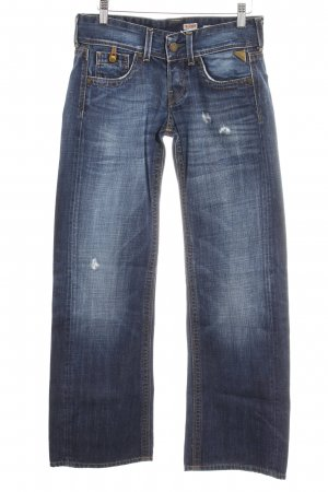 Replay Boot Cut Jeans blue distressed style