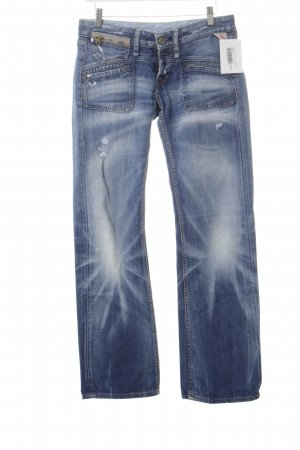 Replay Boot Cut Jeans blau-wollweiß Casual-Look