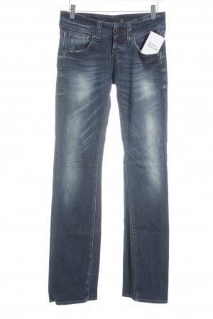Replay Boot Cut Jeans dunkelblau-wollweiß Washed-Optik