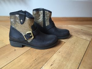 Replay Boots Neu 39 mit goldenen Metall Applikationen