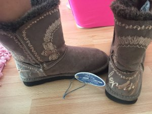 Replay Boots taupe neuwertig 36