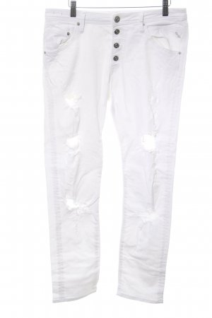 Replay Boyfriend Jeans white casual look