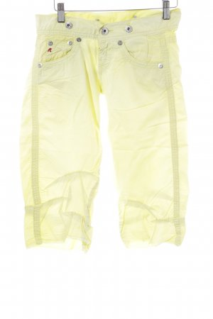 Replay Capris primrose-pale yellow casual look