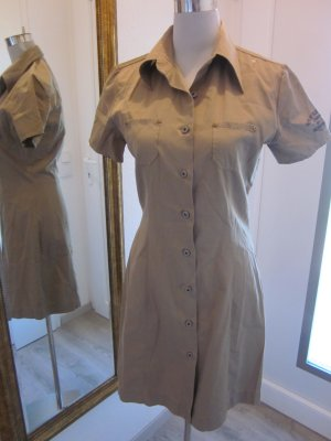 Replay Cargo Kleid Olive mit Kragen  Gr M/38