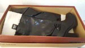 Replay Bottes à l'écuyère noir-blanc cassé cuir