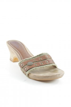 Replay Clog Sandalen olivgrün-braun Beach-Look
