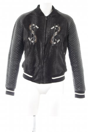 Replay Collegejacke Motivdruck Casual-Look