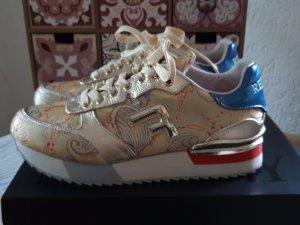 Replay coole Sneaker gold/bunt Gr.38 neuwertig