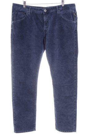 Replay Pantalón de pana azul oscuro look casual