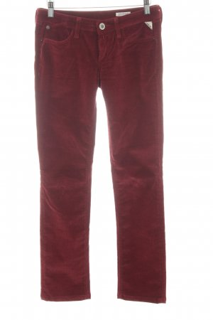 Replay Corduroy Trousers carmine casual look