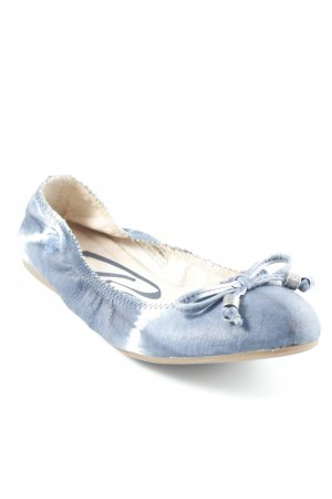 Replay faltbare Ballerinas blau-wollweiß Batikmuster Casual-Look