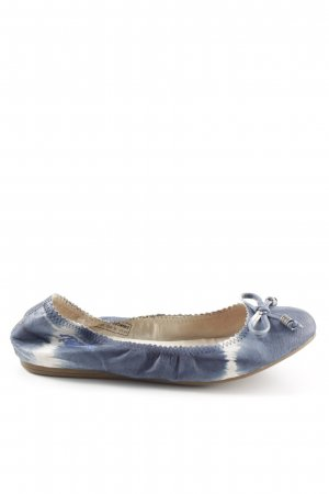 Replay faltbare Ballerinas blau-wollweiß Batikmuster Casual-Look