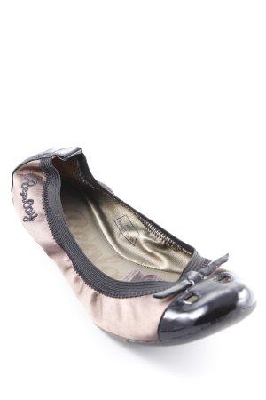 Replay faltbare Ballerinas schwarz-bronzefarben Casual-Look
