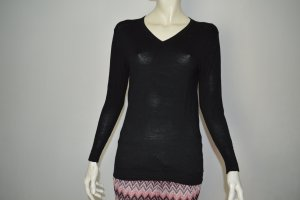 Replay Feinstrick Pullover S-M 36 Schwarz 100% Wolle