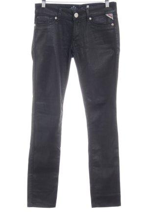Replay Pantalone cinque tasche nero applicazione del logo
