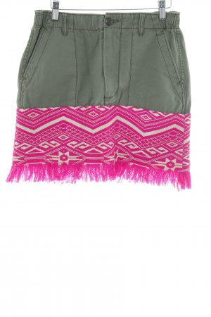 Replay Fransenrock Aztekenmuster Casual-Look