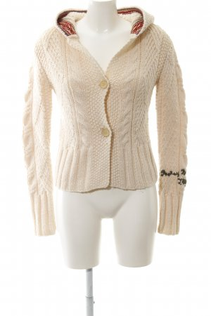 Replay Coarse Knitted Jacket nude cable stitch casual look
