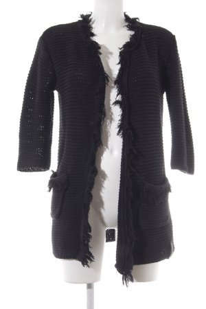 Replay Coarse Knitted Jacket black fluffy