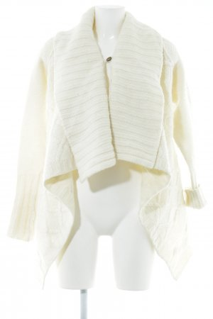 Replay Coarse Knitted Jacket natural white casual look