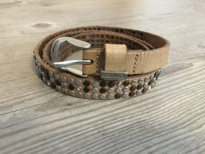 Replay Leather Belt beige-camel