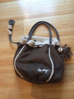 Replay Handtaschenbeutel braun mit Teddyfutter