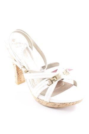 Replay High Heels weiß-goldfarben Elegant