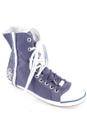 Replay High Top Sneaker dunkelblau-weiß sportlicher Stil