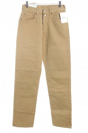 Replay Pantalone a vita alta beige stile casual