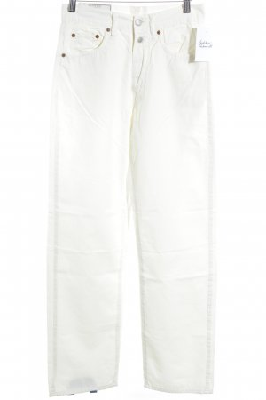Replay Pantalón de cintura alta blanco puro look casual