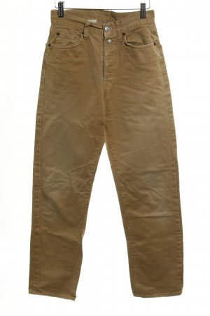 Replay Hoge taille jeans beige atletische stijl