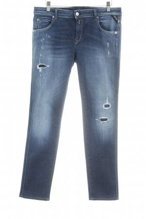 Replay Hoge taille jeans donkerblauw casual uitstraling