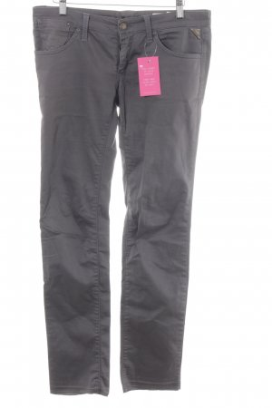 Replay Low-Rise Trousers dark grey casual look