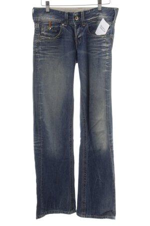 Replay Jeans taille basse bleu foncé style décontracté