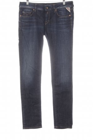 Replay Low Rise Jeans dark blue casual look