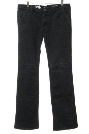 Replay Jeans taille basse bleu foncé-noir style décontracté