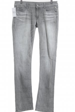 Replay Low Rise Jeans grey athletic style