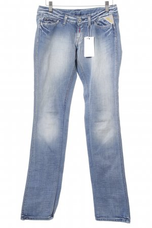 Replay Hüftjeans himmelblau-blau Washed-Optik