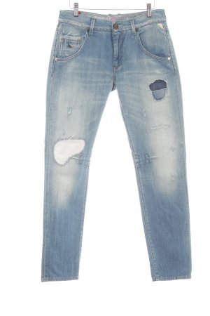 Replay Low Rise jeans azuur casual uitstraling
