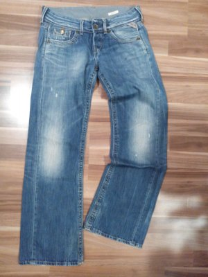 Replay Janice 27 32 jeans denim weit midblue